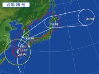 台風24号25号による神子元島欠航のお知らせと連休風予報[3]